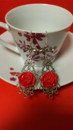 "Boucles d'oreilles collection ""au nom de la rose"""