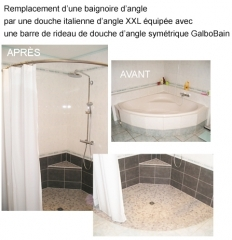 transformer une baignoire d 39 angle en douche italienne d. Black Bedroom Furniture Sets. Home Design Ideas