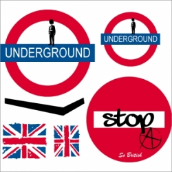 Stickers kit underground