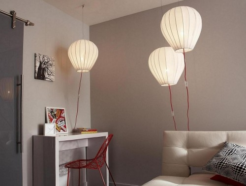 le monde l 39 envers avec la suspension balloon la cerise sur la d c. Black Bedroom Furniture Sets. Home Design Ideas