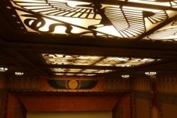 Le plafond de la grande salle