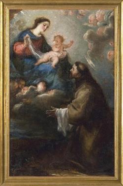 Aparición de la Virgen y el Niño a San Francisco.