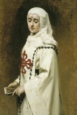 Retrato de María Guerrero en Doña Inés