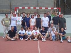Els equips,després del partit
