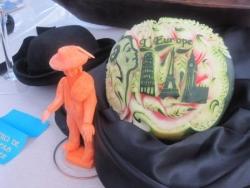 Pastéque & carotte sculptés