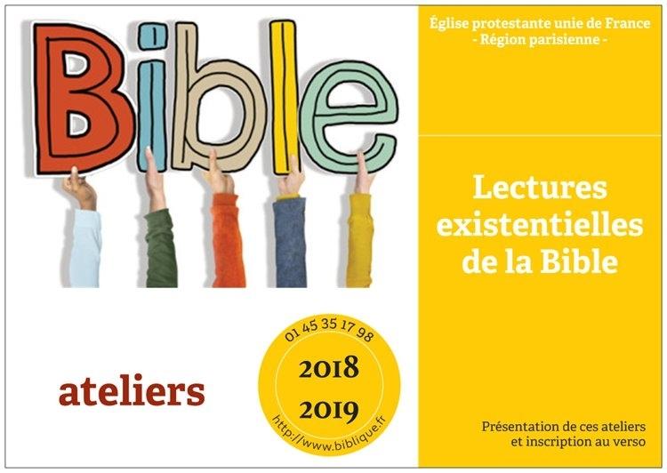 Calendrier Biblique.Ateliers Lectures Existentielles De La Bible 2018 2019