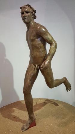 """Le """"courreur"""" de Kyme, bronze"""