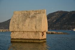 La tombe lycienne immergée