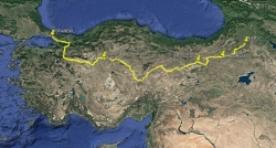 Le trajet Istanbul - Kars