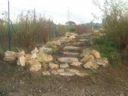 réaménagement d'une allée ambiance rocaille suite