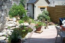 aménagement d'un petit jardin en ville