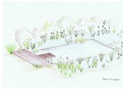 étude paysagère aménagement d'un bassin de baignad