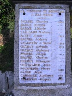 Bonneval 317 habitants 17 morts