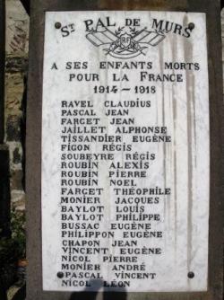 St Pal 542 habitants 22 morts