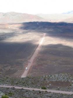La plaine des sables sur la route du volcan
