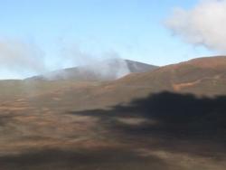 A l'approche du volcan de la Fournaise