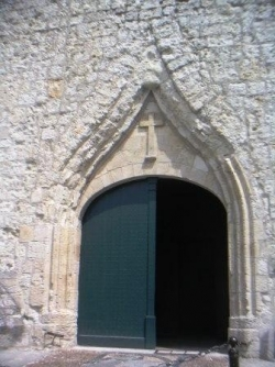 Entrée de l'église de Lectoure