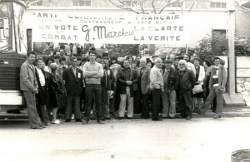Meeting Georges Marchais au stade Vélodrome 1982