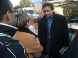 Jean Marc Coppola sur le Marché de Chateauneuf 12.03.10