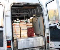 Voici le camion plein à ras bord