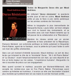 Critique Duras Résistante Philippe Person