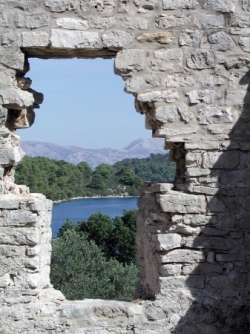 Ruined basilica on Mljet