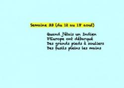 Semaine 33