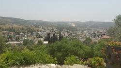Vue sur Jerusalem depuis Notre Dame de l'Arche de