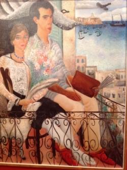 Avec Esther, son épouse