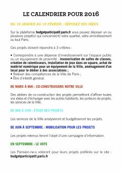 Budget participatif 2016