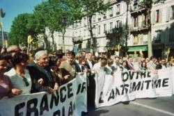 Manifestation républicaine aprés la mort d'Ilan Ha
