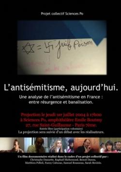 Aujourd'hui l'antisémitisme