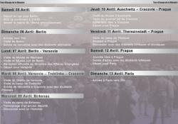 programme du Voyage de la Mémoire 2003
