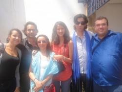 Mahor avec les animateurs du Collectif du 20 Févri
