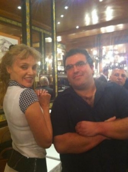 With Arielle Dombasle