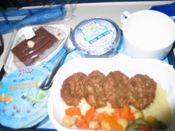 Plateau repas dans l'avion
