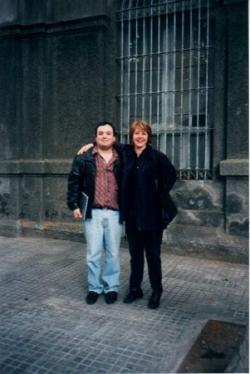 Con la organista Cristina García Banegas