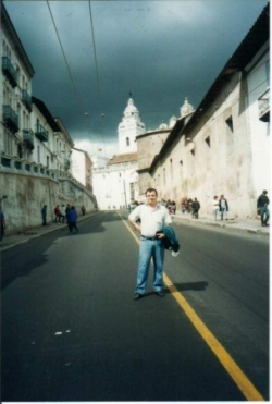 Miguel en las calles de Quito