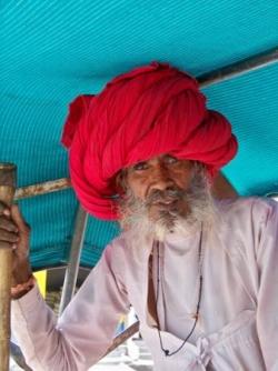 Turban rouge