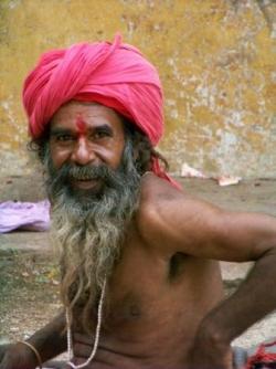 Indien au Turban Fushia