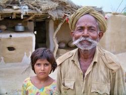 Fermier au Rajasthan