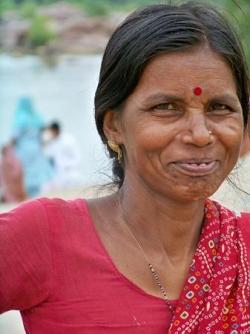 Sourire d'Indienne