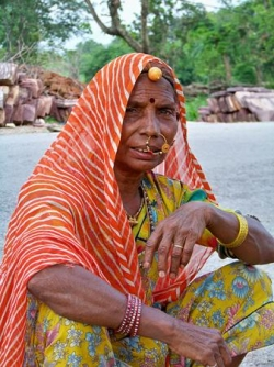 Femme Bishnoï au rajasthan