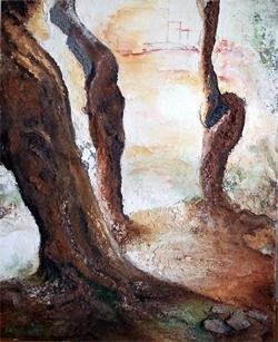 Sous-bois à Florence (85cmx110cm)