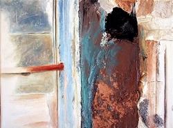 Confidence derrière la porte (40cmx30cm)