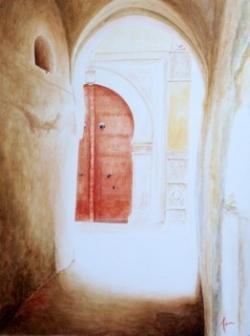 Porte rouge (80 X 40 cm)
