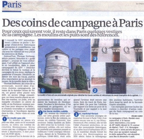 Le parisien secrets de paris for Les secrets de paris