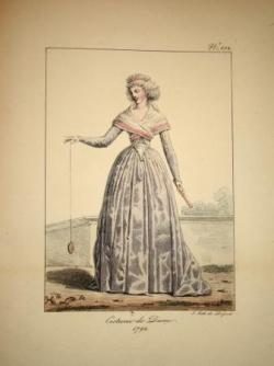 Costume de dame vers 1792
