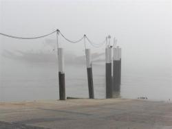 VT1 : Le bac dans le brouillard à Quillebeuf