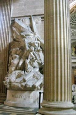 VT1 : Statue de la bataille de Valmy au Panthéon